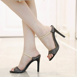 Shoespie Brilliant Casual Black Stiletto Sandals