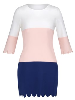 Shoespie Color Block Patchwork Women's Bodycon Dress