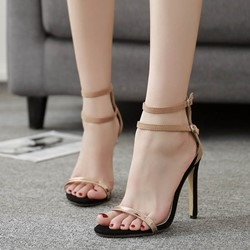 Shoespie Patchwork Light Apricot Dress Sandals