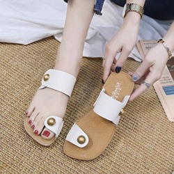 Shoespie Summer Casual Toe Ring Slide Sandals
