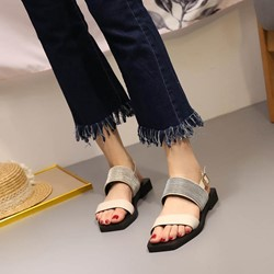 Shoespie Brilliant Strappy Square Heel Sandals