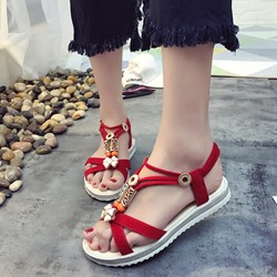Shoespie Bohemian Style Open Toe Slippers