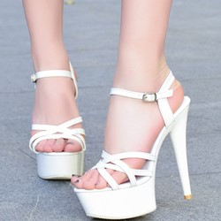 Shoespie Sexy Buckle Platform Ultra-High Heels