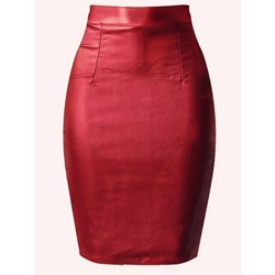 Bodycon Knee-Length Zipper High Waist Women's Skirt