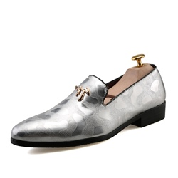 Round Toe Low-Cut Upper Slip-On Men's Oxfords