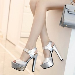 Shoeapie Fashion Sexy Peep Toe High Heels