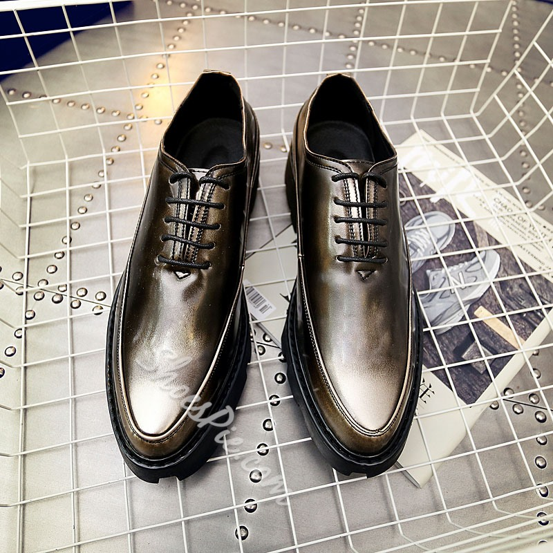 Professional Classic Lace-Up Round Toe Oxfords