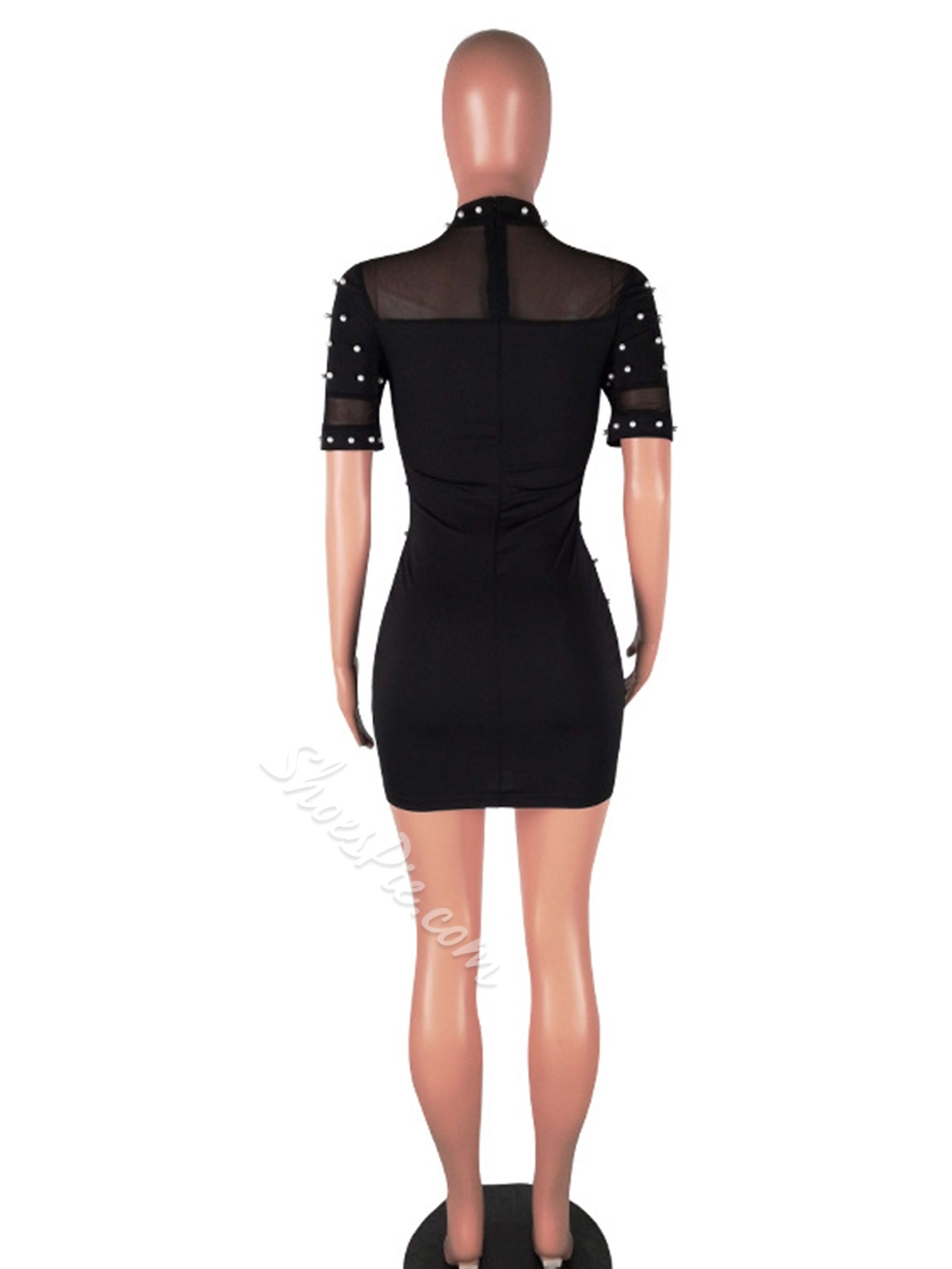 Shoespie See-Through Pullover Women' Bodycon Dress