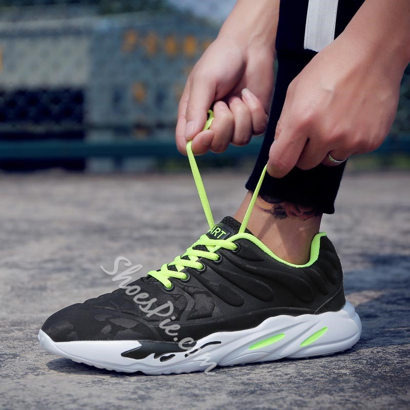 Shoespie Lace-Up PU Casual Athletic Shoes