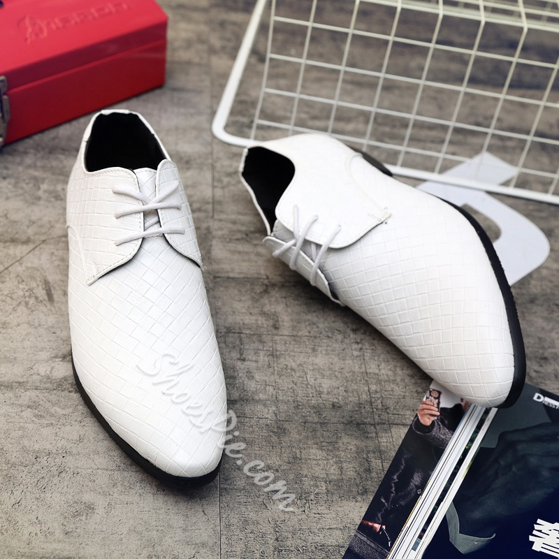 Professional PU Lace-Up Men's Oxfords