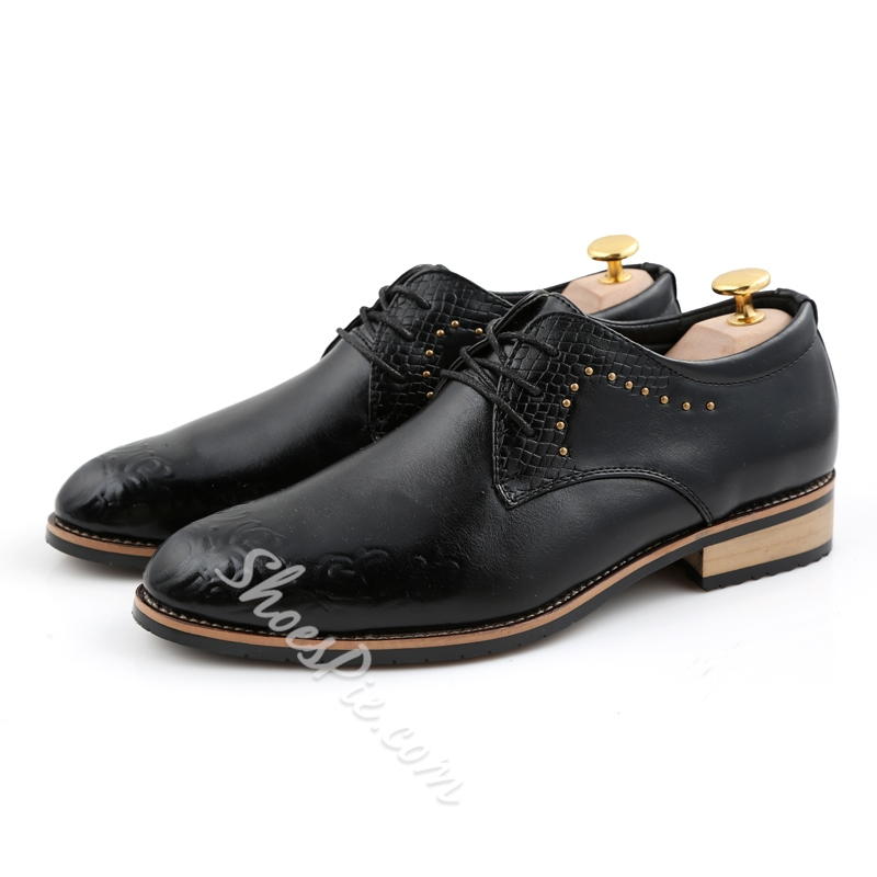 Shoespie Professional Rivet Lace-Up Oxfords