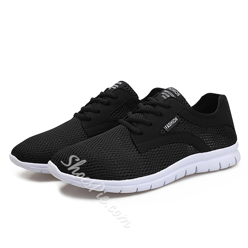 Shoespie Round Toe Lace-Up Athletic Shoes