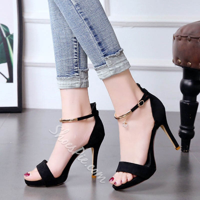 Shoespie Lady Cute Rhinestone Stiletto Heels