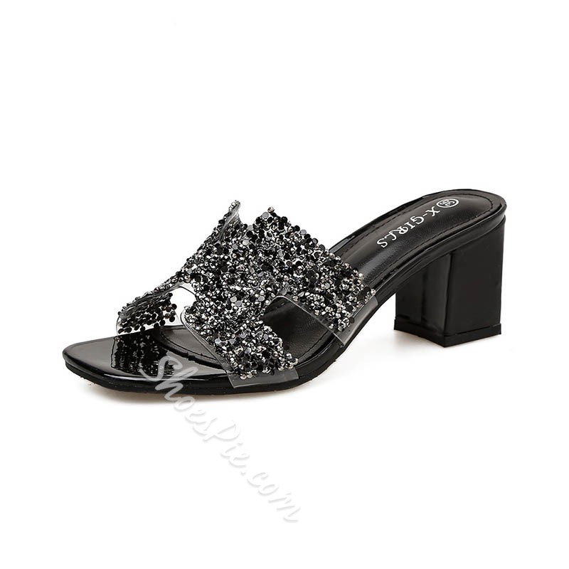 Shoespie Sexy Rhinestone Women Slide Sandals