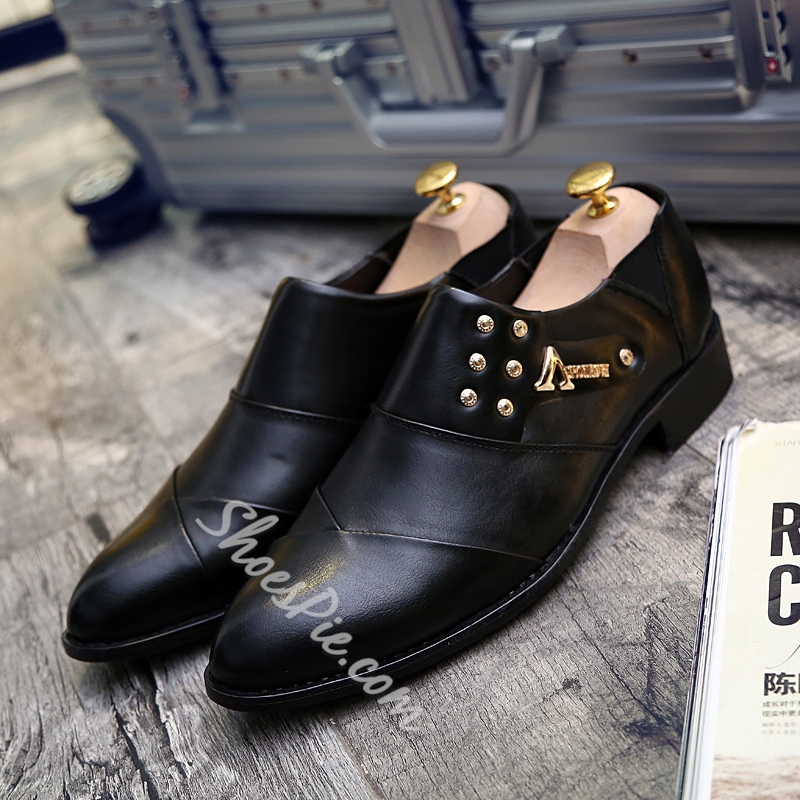 Rivet Decoration Slip-On Men's Oxfords