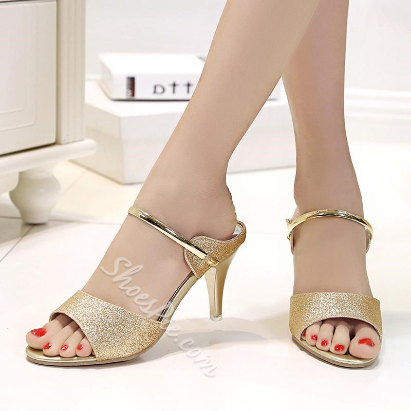 Shoespie Casual Stiletto Heel Mules Shoes
