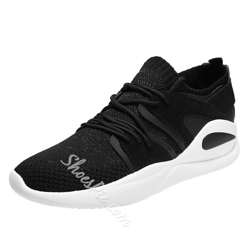 Shoespie Mesh Comfortable Lace-Up Men's Sneakers