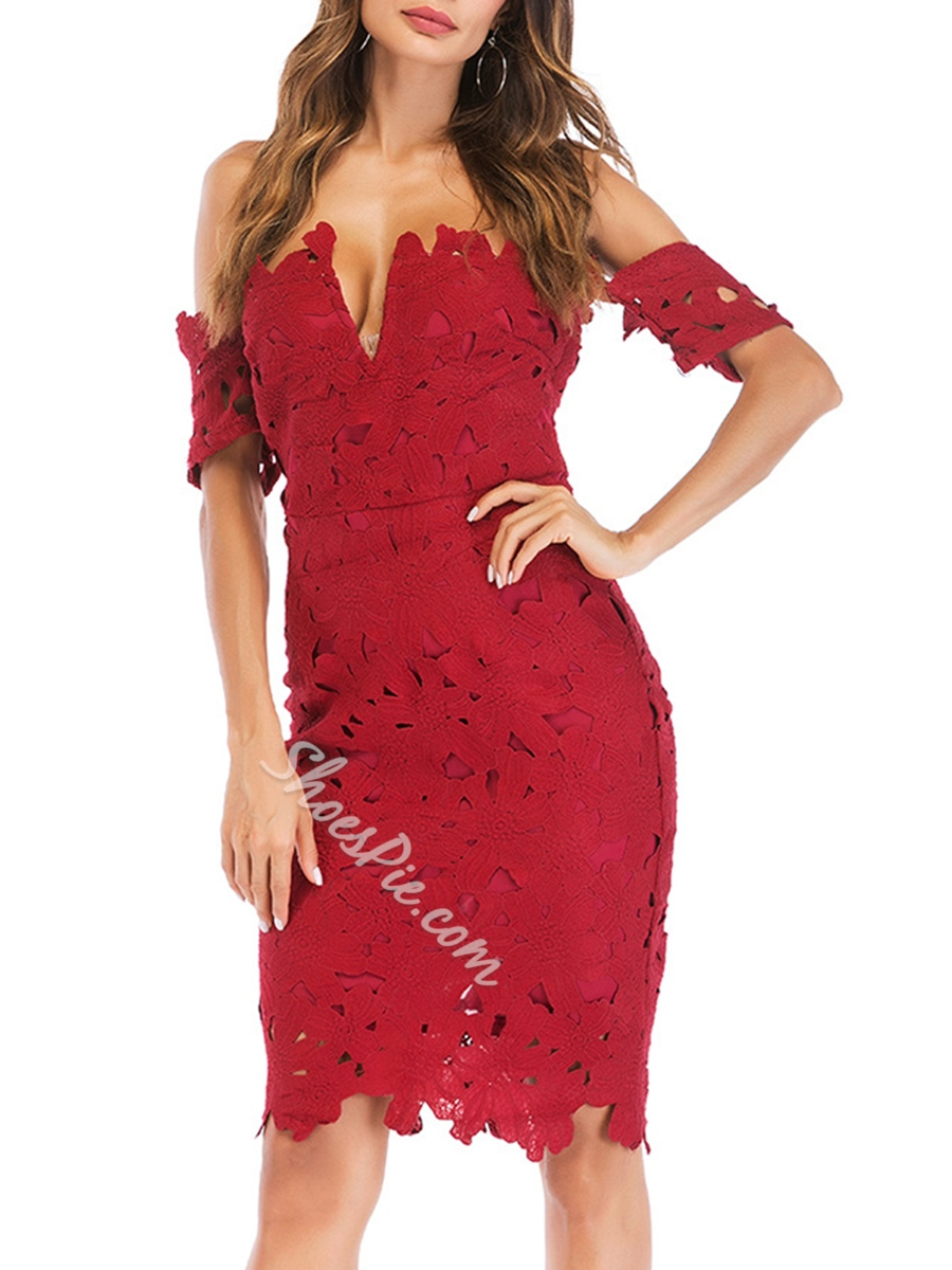 Shoespie Pullover Hollow Single Women's Bodycon Dress