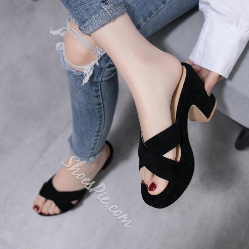 Shoespie Summer Lady Chunky Heel Platform Shoes