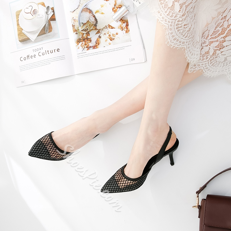 Shoespie Sexy Lace Slingback Strap Sandals