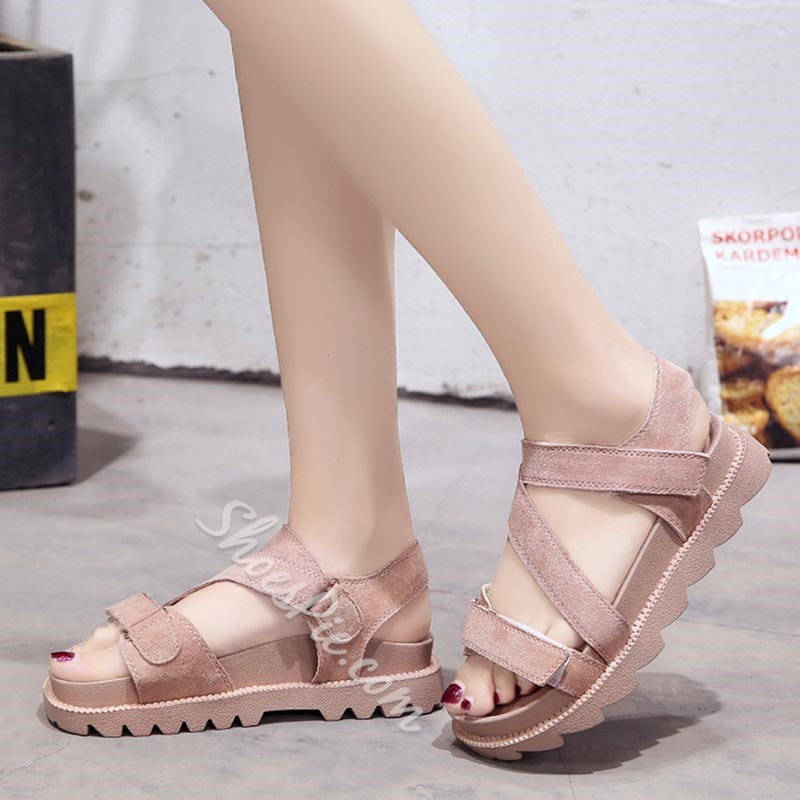 Shoespie Cute Low-Cut Upper Platfrom Sandals