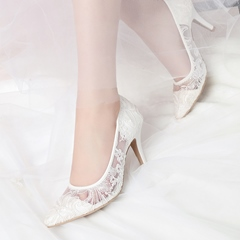 Shoespie Slip-On Pointed Toe Wedding Shoes