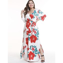 Shoespie Regular Polyester V Neck Women's Maxi Dress