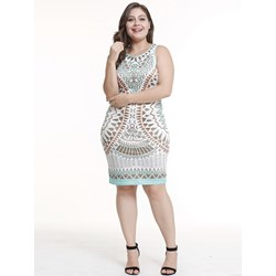 Shoespie Geometric England Print Women's Bodycon Dress