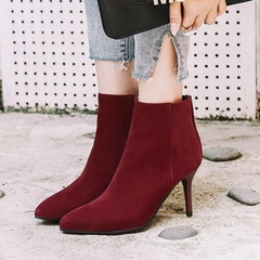 Shoespie Pointed Toe Stiletto Ankle Boots