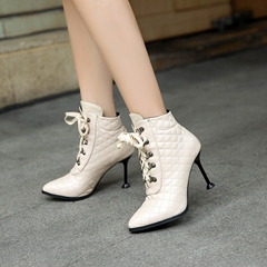 Shoespie Pointed Toe Casual High Heel Boots