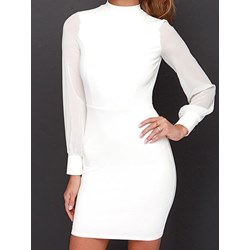 Shoespie Regular Polyester One Button Women's Bodycon Dress