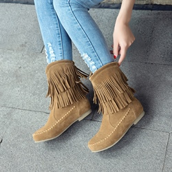 Shoespie Fringe Thread Casual Ankle Boots