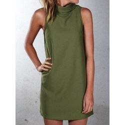 Above Knee Cap Sleeve Stand Collar Women's Bodycon Dress