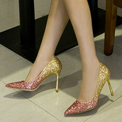 Shining Sequin Pointed Toe Stiletto Heels