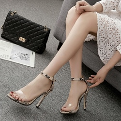 Shoespie Serpentine Line-Style Buckle Dress Sandals