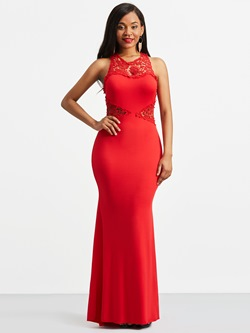 Shoespie Backless Round Neck Women's Maxi Dress