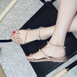 Shoespie Casual Toe Ring Slide Sandals