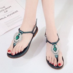 Shoespie Sexy Rhinestone Buckle Slide Sandals