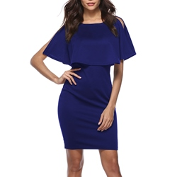 Shoespie Short Sleeve Round Neck Women's Bodycon Dress