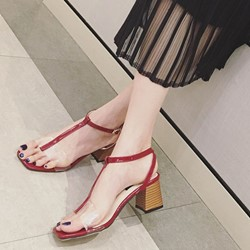 T-Shaped Buckle Jelly Sandals