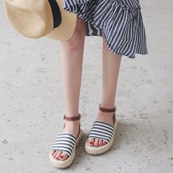 Beach Casual Ankle Strap Platform Sandals