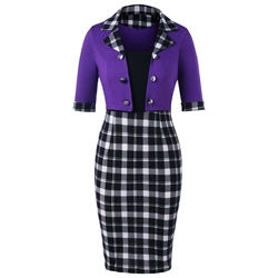 Shoespie Patchwork Pencil Pullover Women's Bodycon Dress