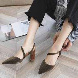 Shoespie Slingback Strap Pointed Toe Slipper