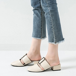 Shoespie Plain Slip-On Flat Sandals