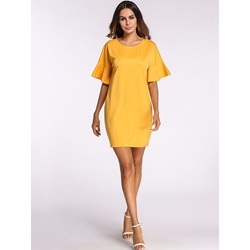 Shoespie Flare Cotton Plain Women's Bodycon Dress