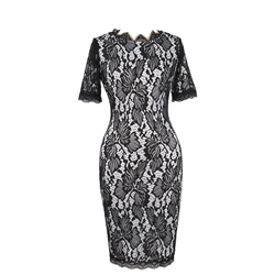 Shoespie Knee-Length Hollow Pullover Women's Bodycon Dress