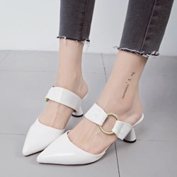 Shoespie Cute Shaped Heel Mules Shoes