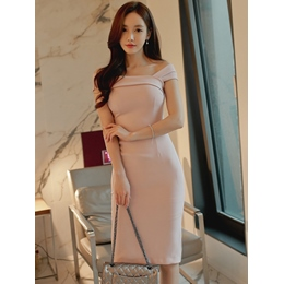 Shoespie Slash Neck Pencil Women's Bodycon Dress