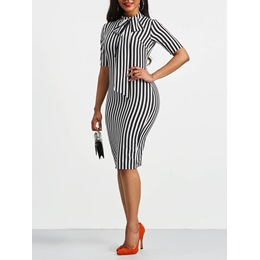 Shoespie Bowknot Pullover Women's Bodycon Dress