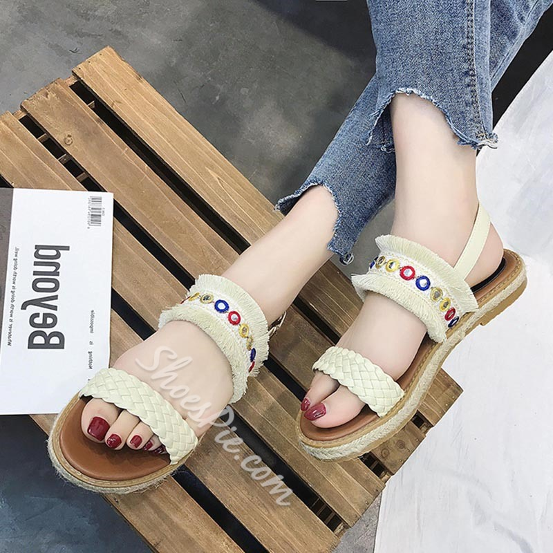 Shoespie Bohemian Style Casual Slide Sandals